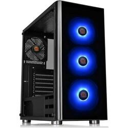 Thermaltake V200 Tempered Glass RGB Edition Mid Tower Chassis Black $84.99