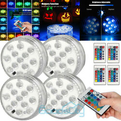 4Pcs Multicolor LED Submersible Swimming Pool Light Remote Underwater Pond Party $15.75