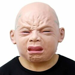 Halloween Cry Baby Novelty Halloween Costume Party Latex Head Mask Baby Face $7.59