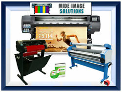 HP Latex Plotter Printer 560 64quot; 2 yr warranty 53quot; cutter 55quot; laminator Rip $16499.99