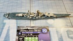 Axis & Allies War at Sea Surface Action USS New Jersey (BB 62) 18/40 $48.00