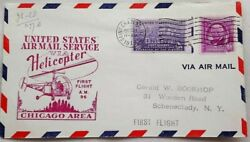 UNITED STATES 1949 HELICOPTER A. M. 96 FIRST FLIGHT SAINT CHARLES ILLINOIS COVER GBP 6.99