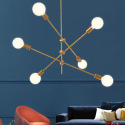 Sputnik Light Modern Chandelier 6 Light Ceiling Light Fixture Pendant Light $55.99