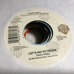 45RPM MIX023 Faith Hill Wild Let's Go To Vegas You Will Be Mine Warner Bros $3.15