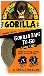 Black Gorilla Duct Tape Handy Roll All Weather Waterproof Adhesive Camping USA $5.70