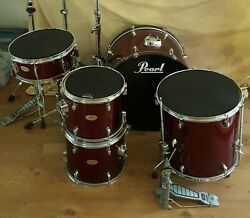 Pearl Forum Series Red Drum Set w Zildjian Cymbal $225.00