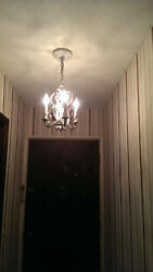 1960#x27;s French Country Style Light Fixture Garniture Chandelier and Sconce Set $75.00