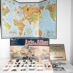 1984 Milton Bradley Axis & Allies WWII Gamemaster Series Board Game  Incomplete $34.99
