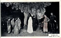 1920s KY Postcard The Bridal Altar Mammoth Cave Kentucky Old Lanterns Workers $6.89