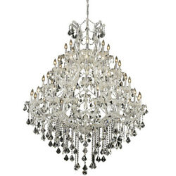 CRYSTAL CHANDELIER LARGE CHROME MARIA THERESA FOYER DINING ROOM 49-LIGHT 62