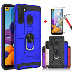 For Samsung Galaxy A21 A11 Ring Holder Case With StandTempered Screen Protector $4.95