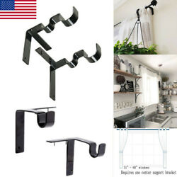 Double Kwik Hang Center Support Curtain Rod Bracket Into Window Frame Bracket US $10.99