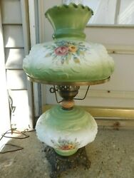 GORGEOUS VINTAGE RAISED ROSES GONE WITH THE WIND LAMP $89.99