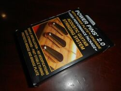 NEW Power Pins 2.0 Acoustic Guitar Bridge Pins & Power Plate GOLD BP-2860-002 $49.95