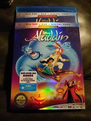 Aladdin 1992 Animated Blu ray DVD with slipcover disney $6.00