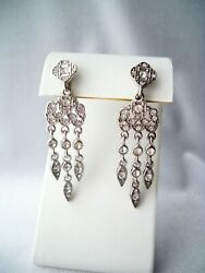 Vintage Avon Crystal Rhinestone Chandelier Clip On Earrings $6.85