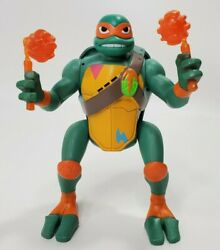 Rise of the TMNT Michelangelo Talking Action Figure Nickelodeon 2018 Playmate $5.48