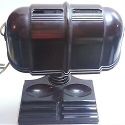 Art Deco Bakelite Banker Desk Lamp Atlas Appliance Corp Adjustable Shade Vintage $69.99