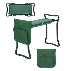 Foldable Garden Kneeler Bench Stool Kneeling EVA Pad Cushion Seat W/ Tool Pouch $33.99