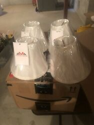 chandelier shades Set Of 4 Clip On White $22.00