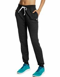 Champion Women Sweatpants Joggers French Terry Pockets Relaxed Low Profile Draw $26.92