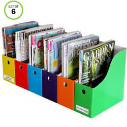 Evelots Magazine File Holder- Organizer- Full 4 Inch Wide- With Labels $16.99