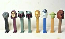 8 standard size footed Star Wars Pez Dispensers Death Star R2 D2 Yoda amp; More $9.99