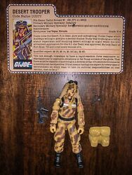 GI Joe 1985 Dusty Desert Trooper Hasbro Action Figure Complete With File Card $44.99