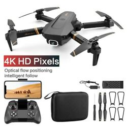 New WIFI FPV Drone FPV 4K Dual Wide Angle Camera Foldable RC Drone Free Shipping $129.99