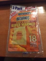 3 pack HotHands Body & Hands Super Warmers $10.50