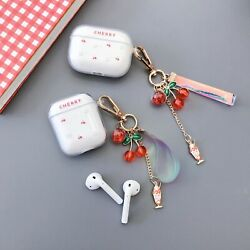 For Airpods 1amp;2 Pro Charging Case Clear Hard PC Cover Fruit Cherry Cute $8.78