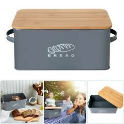 Bamboo Wood Bread Box Loaf Container Bread Bin with Lid Kitchen Food Storage Bin $28.59