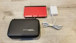 Nintendo 3DS XL Red Handheld System With Charger and Carrying Case $114.99