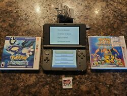 Nintendo New 3DS XL Handheld System Bundle with charger 3 games pokemon  $149.99