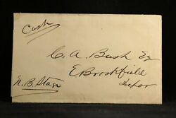 RPO: Boston amp; Albany G Angier 1868 East to North Brookfield Stage Ticket Receipt $75.00