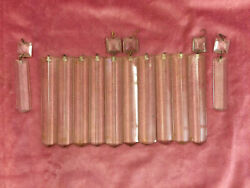 Lot of 12 Vintage Crystal Colonial Chandelier Prisms for Restoration $35.00