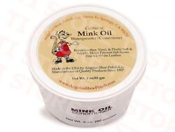 Angelus Mink Oil Paste Leather Waterproof amp; Conditioner 3oz Boots Shoes Jackets $6.95