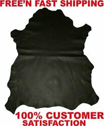 Black Brown Leather Upholstery Cow Hide Leather 7 16 sqft piece Stunning $19.49