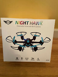 NEW Sky Rider Night Hawk HEXACOPTER DRONE with Wi Fi Camera model DRW557BU $34.99