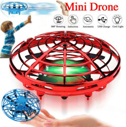 Mini UFO Drone Quad Induction Levitation Flying Toy Hand Controlled Kids Gift $13.99