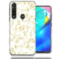 For Motorola Moto G Power Gold Marble Design Double Layer Phone Case Cover $12.59