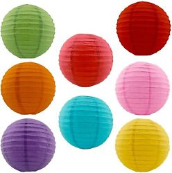 8 inch Chinese Paper Lantern Mix Color Combo Great for Party and Wedding Decors $7.95