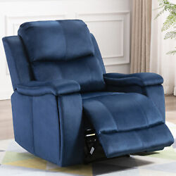 Manual Recliner Chair With Pullable Cup Holders Classic Home Theater Single Sofa $335.25