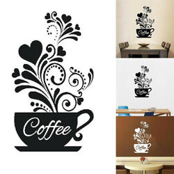 JW Coffee Cup Decal Wall Decoration Removable Home Kitchen Art Mural Sticker $7.27