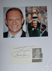 Francois Pienaar South African Rugby Legend 10 x 8 signature Piece GBP 19.75