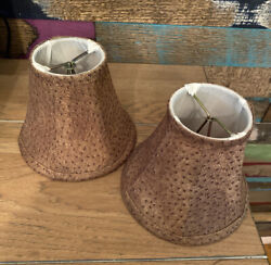 """Animal Print 5"""" Chandelier Shades Lot Of 2 NEW. $22.50"""