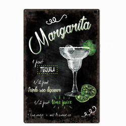 Metal Tin Sign margarita cocktail for Bar Pub Home Vintage Retro Poster $8.49
