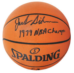 Jack Sikma Sonics Signed Spalding Game Series NBA Basketball w 1979 Champs SS $105.79