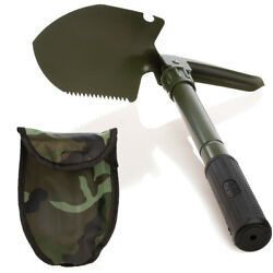 Foldable Camping Shovel With Camo Carrying Case Multifunctional Tools Survival $9.99