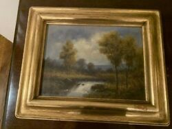 ANTIQUE OIL PAINTING LANDSCAPE BY J.S. PROCTOR IN BEAUTIFUL GOLD FRAME $340.00